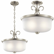 Kichler 43942NIL16 Bixler Brushed Nickel LED Pendant Light / Flush Mount Lighting Fixture
