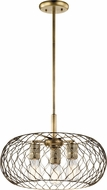 Kichler 43958NBR Devin Modern Natural Brass Hanging Pendant Lighting