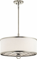 Kichler 43987NI Melrose Brushed Nickel Drum Ceiling Pendant Light