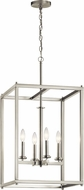 Kichler 43998NI Crosby Modern Brushed Nickel Foyer Lighting