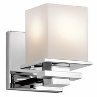 Kichler 45149CH Tully Modern Chrome Finish 5  Wide Light Sconce