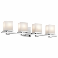 Kichler 45152CH Tully Contemporary Chrome Finish 6.5  Tall 4-Light Bathroom Lighting Fixture