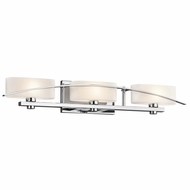 Kichler 45317CH Suspension Contemporary Chrome Finish 5  Tall 3-Light Vanity Light