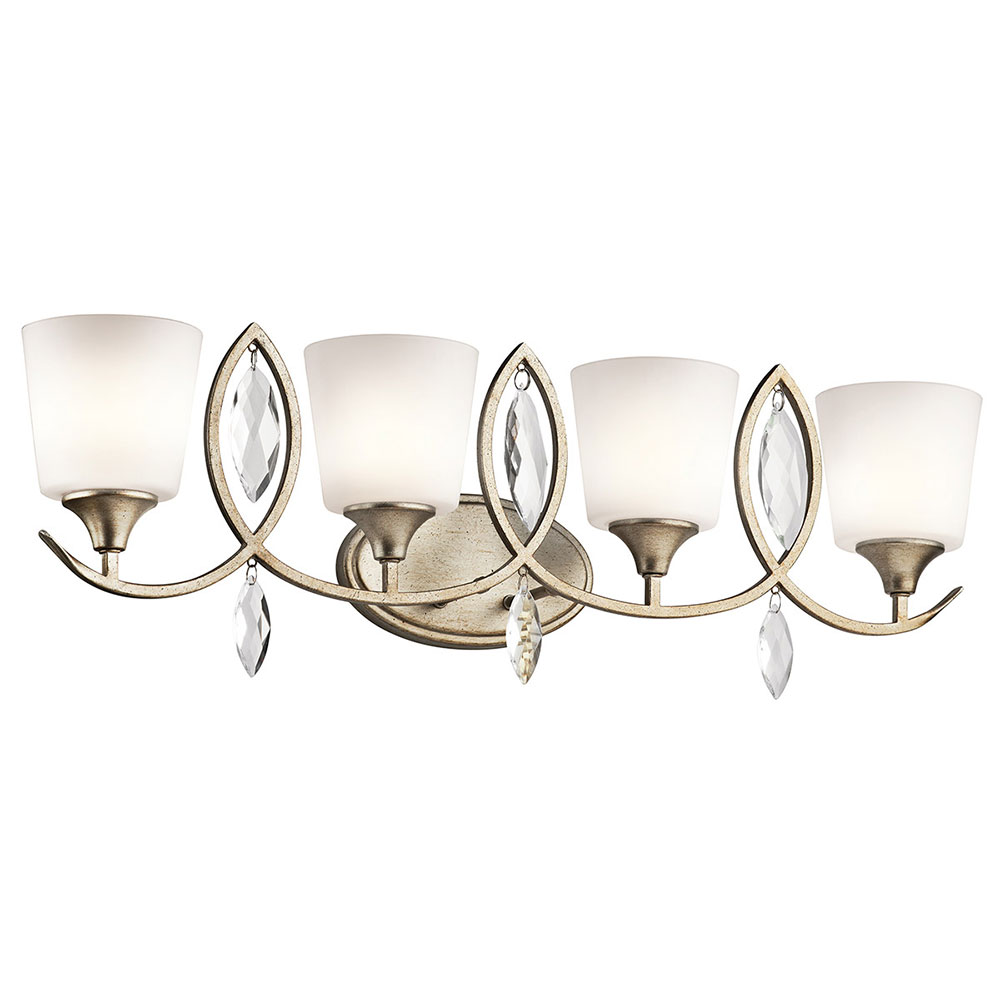 Kichler 45373SGD Casilda Sterling Gold 4 Light Bathroom Vanity Light KIC 45