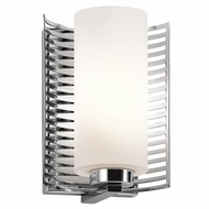 Kichler 45431CH Selene Contemporary Chrome Finish 9.25  Tall Lighting Sconce
