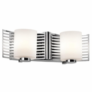 Kichler 45432CH Selene Modern Chrome Finish 16  Wide Halogen 2-Light Bath Lighting Fixture