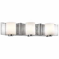Kichler 45433CH Selene Contemporary Chrome Finish 5.25  Tall Halogen 3-Light Bathroom Light Fixture