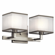 Kichler 45438NI Kailey Modern Brushed Nickel Finish 7  Tall 2 Light Bathroom Light