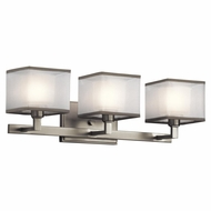Kichler 45439NI Kailey Contemporary Brushed Nickel Finish 22  Wide 3 Light Bathroom Lighting Fixture