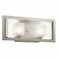 Kichler 45442NI Rigate Contemporary Brushed Nickel Finish 15.75  Wide Halogen 2 Light Vanity Light
