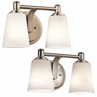 Kichler 45454 Quincy 12.5  Wide 2 Light Bathroom Light Fixture