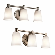 Kichler 45455 Quincy 7.75  Tall 3 Light Bathroom Vanity Lighting
