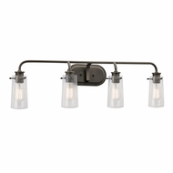 Kichler 45460OZ Braelyn Retro Olde Bronze Finish 10  Tall 4-Light Bath Sconce