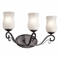 Kichler 45467SMG Kambry Traditional Smokey Gray Finish 11.5  Tall 3 Light Bath Sconce