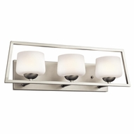 Kichler 45483NI Kalel Modern Brushed Nickel Finish 7.75  Tall Halogen 3-Light Vanity Lighting Fixture