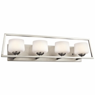 Kichler 45484NI Kalel Contemporary Brushed Nickel Finish 31.5  Wide Halogen 4-Light Bathroom Vanity Light Fixture