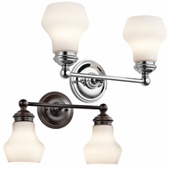 Kichler 45487 Currituck 9.75  Tall 2 Light Bath Wall Sconce