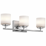 Kichler 45502CH O Hara Chrome Finish 22  Wide Halogen 3 Light Bath Lighting Sconce