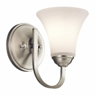 Kichler 45504NI Keiran Brushed Nickel Finish 8.5  Tall Lamp Sconce