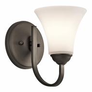 Kichler 45504OZ Keiran Olde Bronze Finish 6  Wide Wall Sconce Lighting