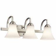 Kichler 45513NI Keiran Brushed Nickel Finish 8.25  Tall 3-Light Bathroom Light Sconce