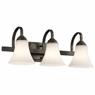 Kichler 45513OZ Keiran Olde Bronze Finish 22  Wide 3-Light Bathroom Lighting Sconce