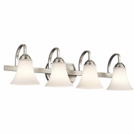 Kichler 45514NI Keiran Brushed Nickel Finish 8.25  Tall 4-Light Bathroom Sconce Lighting