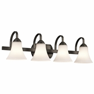 Kichler 45514OZ Keiran Olde Bronze Finish 30  Wide 4-Light Bath Lighting Sconce