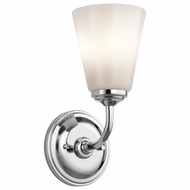 Kichler 45517CH Ashbrook Chrome Finish 5  Wide Wall Light Sconce