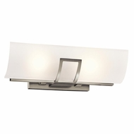 Kichler 45533NI Tryloni Modern Brushed Nickel Finish 4.75  Tall Bathroom Wall Light Fixture