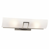 Kichler 45535NI Tryloni Contemporary Brushed Nickel Finish 23  Wide Bathroom Lighting