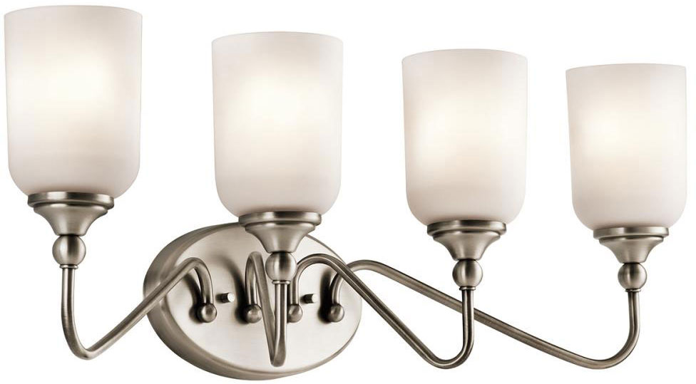 Kichler 45553AP Lilah Antique Pewter 4 Light Vanity Lighting Fixture KIC 45