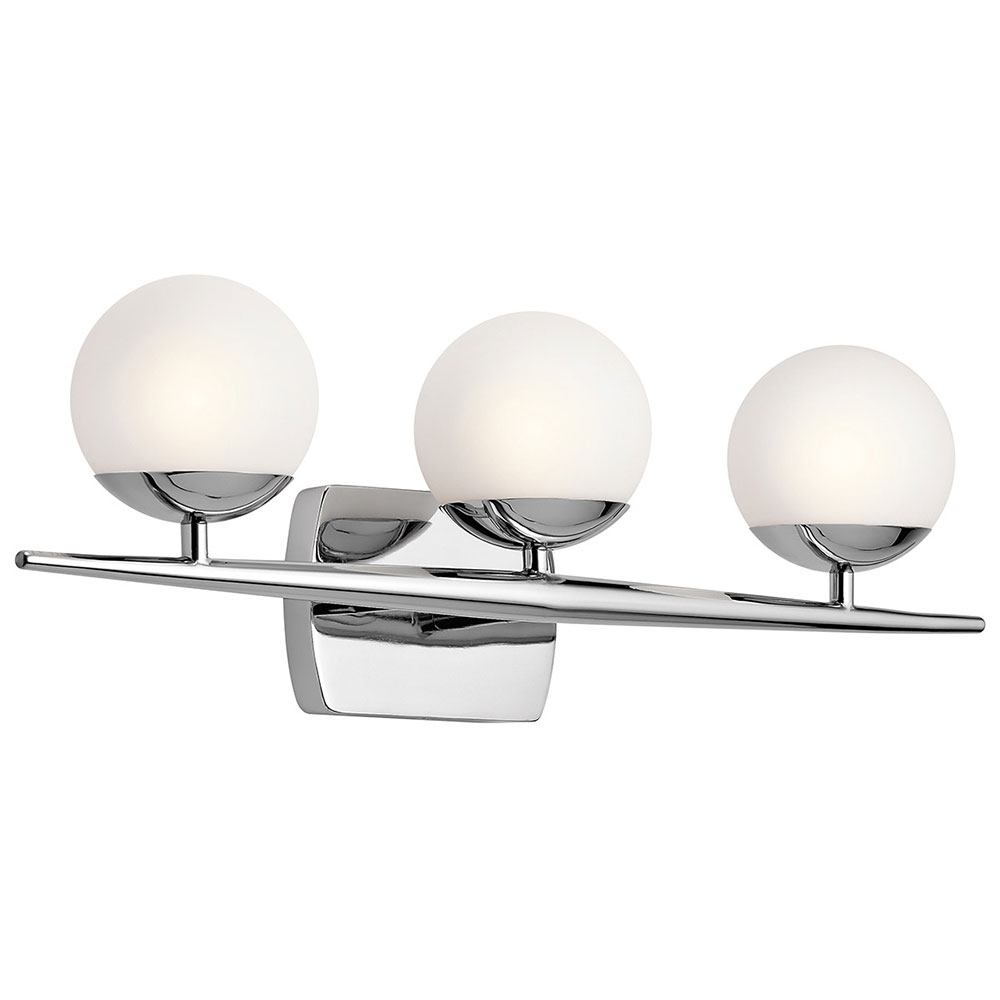 click here to zoom kichler ch jasper contemporary chrome halogen light bathroom wall sconce bath sconce halogen contemporary bathroom lighting bathroom lighting sconces contemporary bathroom