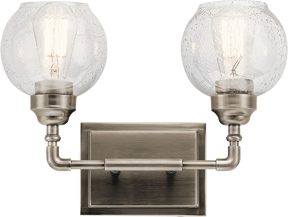 Kichler 45591AP Niles Modern Antique Pewter 2-Light Bath