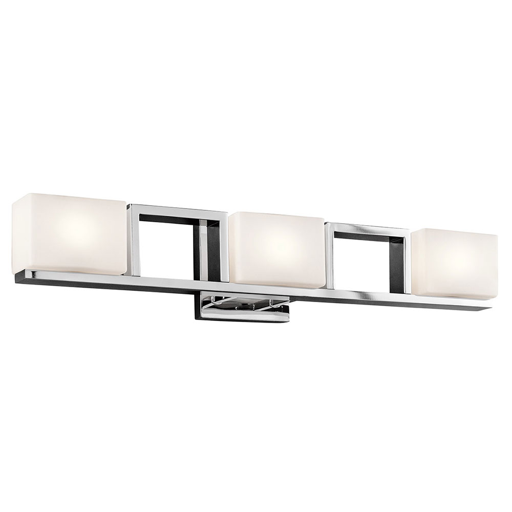 Fantastic  Modern Polished Nickel 4Light Bathroom Vanity Lighting  KIC45630PN