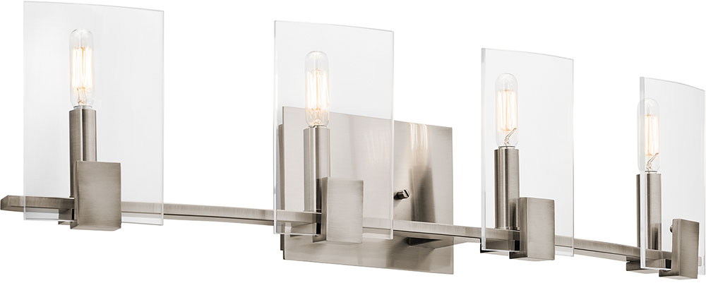 Kichler 45704CLP Signata Modern Classic Pewter 4 Light Bathroom Vanity Light