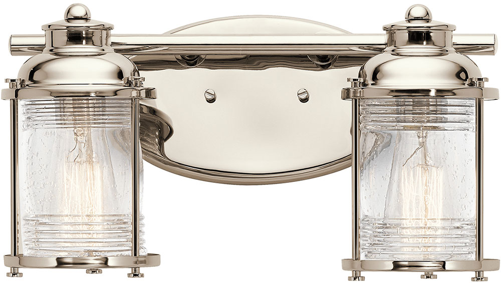 Nautical Bathroom Light Fixture: Kichler 45771PN Ashland Bay Polished Nickel 2-Light