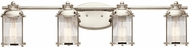 Kichler 45773PN Ashland Bay Polished Nickel 4-Light Bathroom Light