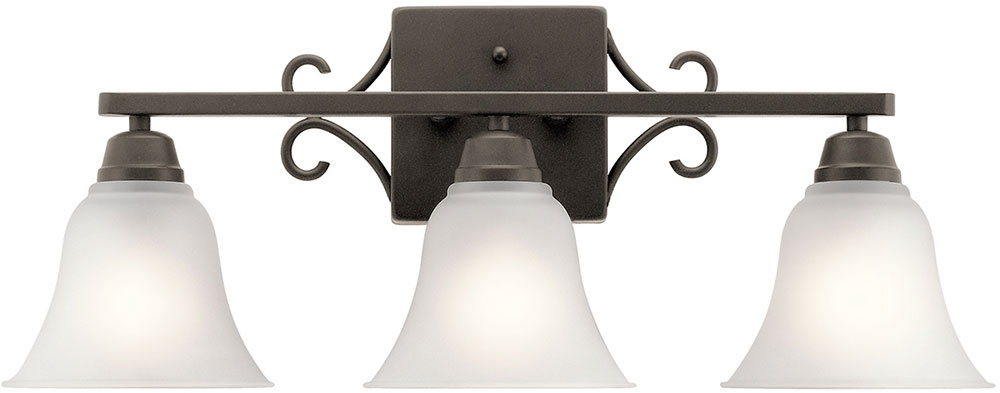Kichler 45940oz Bixler Olde Bronze 3 Light Bath Lighting