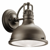 Kichler 49065OZLED Hatteras Bay Nautical Olde Bronze Finish 9.5  Tall LED Exterior Wall Sconce
