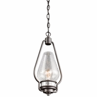 Kichler 49093AVI Hanford Vintage Anvil Iron Finish 16.25  Tall Exterior Mini Hanging Pendant Light