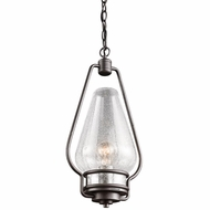 Kichler 49094AVI Hanford Retro Anvil Iron Finish 9.5  Wide Outdoor Mini Pendant Hanging Light