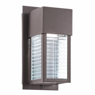 Kichler 49117AZ Sorel Contemporary Architectural Bronze Finish 10.75  Tall Halogen Exterior Light Sconce