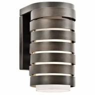 Kichler 49208OZ Roswell Contemporary Olde Bronze Finish 9  Tall Exterior Wall Sconce Lighting