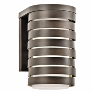 Kichler 49209OZ Roswell Modern Olde Bronze Finish 6.25  Wide Outdoor Wall Mounted Lamp