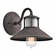 Kichler 49267WZC Laken Vintage Weathered Zinc Finish 6.5  Tall Exterior Wall Light Sconce