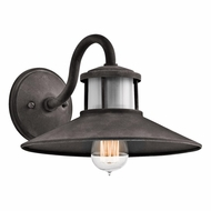 Kichler 49268WZC Laken Retro Weathered Zinc Finish 11  Wide Outdoor Wall Lighting Fixture