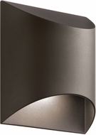 Kichler 49278AZTLED Wesly Modern Textured Architectural Bronze LED Outdoor Wall Light Sconce