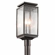 Kichler 49388OZ Manningham Traditional Olde Bronze Finish 8.5  Wide Outdoor Post Lighting
