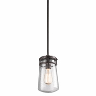Kichler 49447AZ Lyndon Retro Architectural Bronze Finish 11.75  Tall Exterior Mini Drop Ceiling Lighting